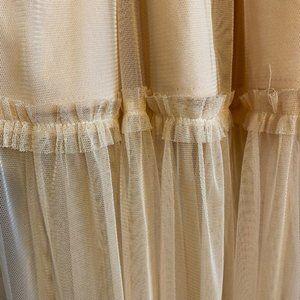 Zara Tulle Midi Skirt Blush Peach